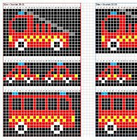 Diy Crafts - Ravelry: Utryckning pattern by Madeleine Bergh Cross Stitch Cow, Beaded Cross Stitch, Simple Cross Stitch, Cross Stitch Animals, Knitting Charts, Baby Knitting Patterns, Knitting Socks, Baby Patterns, Diy Crafts Knitting