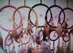 Dream Catchers Hangs Almost 2ft pick a color on by TheTinkersShop, $10.00