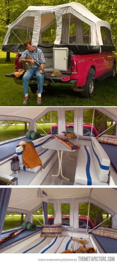Truck Tent…so funny..so awesome..now I need a truck!