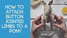 Hand sewing tutorial showing step by step details on how to attach button jointed limbs to a soft toy. The sewing pattern to make the Ponies is available onl. Sewing Stitches, Sewing Patterns, Sewing Tutorials, Video Tutorials, Sewing Ideas, Daisy Pattern, Baby Crafts, Fabric Dolls, Craft Videos