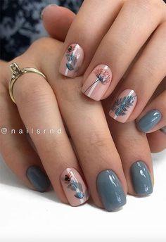 Fall Nail Art Designs, Beautiful Nail Designs, Fun Nails, Pretty Nails, Gel Nagel Design, Cute Nails For Fall, Dipped Nails, Nagel Gel, Nail Manicure