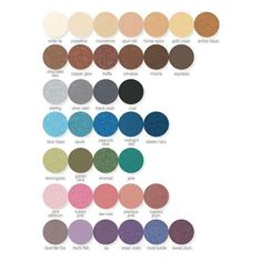 Mary Kay mineral Eyeshadow colors