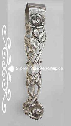 Antiksilber Zuckerzange Rose Art.-Nr. 52 - Silber-und-Rosen-Shop