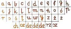 Znalezione obrazy dla zapytania kaligrafia alfabet dla dzieci