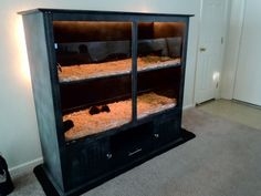 Gutted entertainment center cage