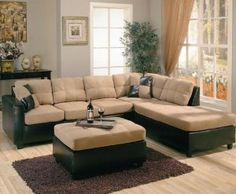 Amazon.com: Harlow Right L-Shaped Two Tone Sectional Sofa by Coaster Furniture: Home & Kitchen