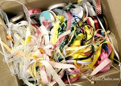 Messy Ribbons - How to Organize Ribbons Ribbon Organization, Ribbons, Organize, Hacks, Rose, Pink, Grinding, Roses, Glitch