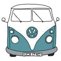 """""""Hippie Van"""" Stickers by Cartoon Drawings, Easy Drawings, Van Hippie, Wolkswagen Van, Van Drawing, Snake Drawing, Tumblr Stickers, Van Stickers, Macbook Stickers"""