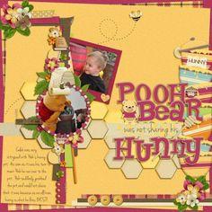 I used Kellybell Designs: Silly 'Ol Bear Silly 'Ol Bear Paper Stacks Silly 'Ol Bear Page Starters Silly 'Ol Bear Word Art