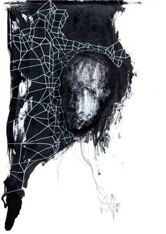#person #face #collage #ink #texture #mask #contrast #AnagramaArtLab @Mauro