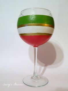 Christmas Bulb Wine Glass by SassysGlassies on Etsy, $12.00