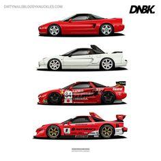Honda NSX, NSX-R and NSX-GT