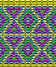 "The location where building and construction meets style, beaded crochet is the act of using beads to decorate crocheted products. ""Crochet"" is derived fro Tapestry Crochet Patterns, Crochet Quilt, Crochet Stitches Patterns, Tunisian Crochet, Crochet Chart, Beading Patterns, Cross Stitch Patterns, Mochila Crochet, Graph Paper Art"