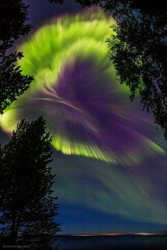 Northern lights Murmansk region, Russia