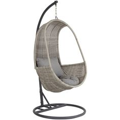 John Lewis Dante Pod Hanging Chair ($515) ❤ liked on Polyvore featuring home, outdoors, patio furniture, hammocks & swings and john lewis