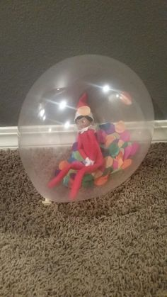 Elf on the shelf - Day 3 Stuck in a balloon, need to pee!