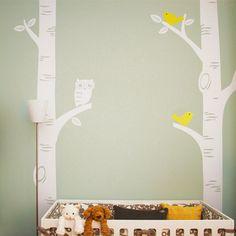 Búho etiqueta de la pared 3 gran árbol de abedul grande tatuajes de pared   proyecto Nursery contó   bebé vivero vinilos para el hogar papel tapiz mural en Pegatinas de Pared de Casa y Jardín en AliExpress.com | Alibaba Group