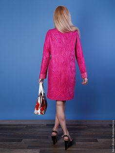 """Купить Пальто """"Фуксия"""" - фуксия, валяное пальто, пальто женское, пальто демисезонное"""