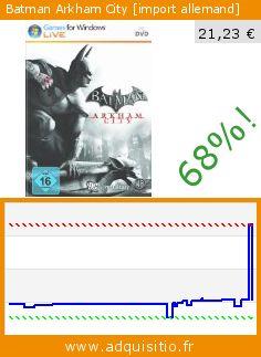Batman Arkham City [import allemand] (Jeu informatique). Réduction de 68%! Prix actuel 21,23 €, l'ancien prix était de 66,70 €. http://www.adquisitio.fr/warner-bros/batman-arkham-city-import-3