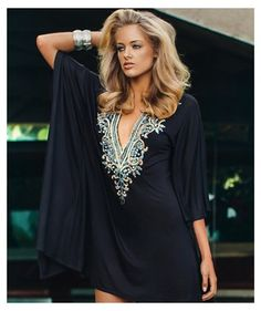ef70020d80eaa Black Swimsuit Cover Up Dress