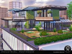 The Sims Resource: Industrial Penthouse by Pralinesims • Sims 4 Downloads