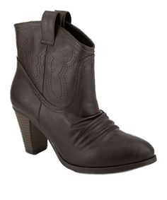 Take a look at this Rampage Brown Izmeta Bootie on zulily today!