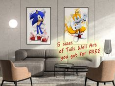 Set of 2 Miraculous: Tales of Ladybug and Cat Noir Prints Poster Prints Watercolour Wall Art Decor Crystal Canvas 8x10