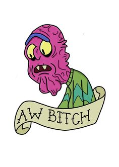 Rick and Morty x Scary Terry - Rick & morty - Lenora Tatuaje Rick And Morty, Rick And Morty Tattoo, Rick And Morty Quotes, Rick And Morty Poster, Rick And Morty Stickers, Rick I Morty, Scary Terry, Pop Stickers, Graphic Design Fonts