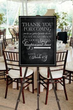 Printable Vintage Wedding Welcome Sign Thank You by pompdesigns, $19.99
