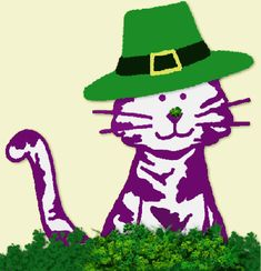 Patrick's Day from Purple Cat Arts Crazy Cat Lady, Crazy Cats, Erin Go Bragh, Purple Cat, Cat Pin, Happy Fall, Pilgrim, Cat Toys, Irish