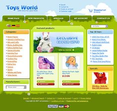 Toys Store osCommerce Templates by Matrix