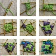 Güzel Gökkuşağı Patch Örme Çorap (1)
