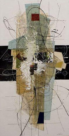 Étienne Gélinas artiste // une machine vivante // traits tout en rondeur et mouvement  #collage