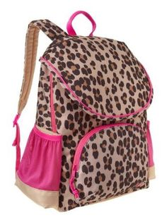 Amazon.com: Gap Leopard Print Backpack Senior: Clothing Brown Backpacks, Cute Backpacks, Awesome Backpacks, Hello Kitty Backpacks, Monogram Backpack, Rucksack Bag, Gap Kids, Business For Kids, Little Princess