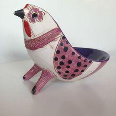 Bird Bitossi Londi Raymor Ceramic Pottery Italy Mid Century Modern Bowl in Pottery & Glass, Pottery & China, Art Pottery | eBay