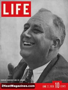 Life Magazine June 27, 1938 : Cover - President Roosevelt, feature story on American opinions of the President.