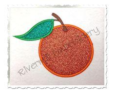 $2.95Applique Orange Machine Embroidery Design