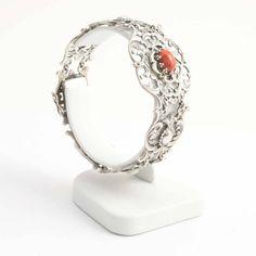 Aurora Patina Zilveren armband uit de Jugendstil periode met koraal
