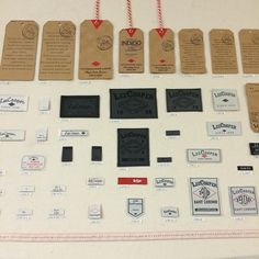 Tag, you're it! A look #bts at lee Cooper tags and labels in our showroom. #tag #label ##showroom #create #design #leecooper