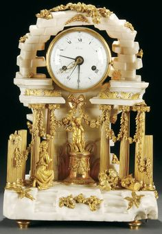 Crystal Stemware, Mantle Clock, Antique Clocks, Louis Xvi, Decoration, Art Pieces, Marble, Calendar, Bronze