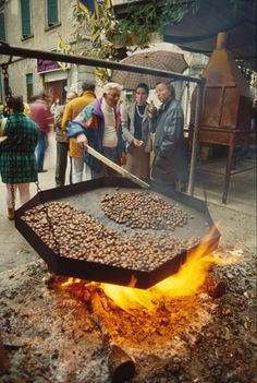 Autumn Harvests throughout Italy - yummy chestnuts.  One of our fav things to experience in Italy!!