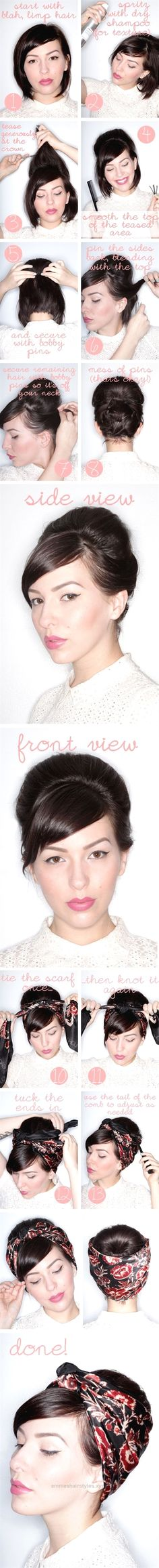 Beautiful Hair Tutorials For Short Hair The post Hair Tutorials For Short Hair… appeared first on Emme's Hairstyles .
