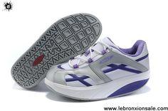 Cheap Discount Women MBT M.Walk Shoes Deep Purple Cross White For Sale