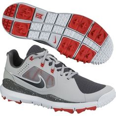 buy online 7526e b85b6 New Nike TW  14 2014 Tiger Woods Mesh Mens Golf Shoes Grey Red Black - Pick  Size