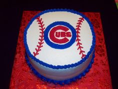 Cubs Birthday This little boy wants his two favorite things for his cake.Baseball and the Cubs! Baseball Birthday Cakes, Baseball Party, Cubs Baseball, Baseball Cakes, Cake Birthday, Birthday Fun, Birthday Wishes, Chicago Cubs Cake, Cake Cookies
