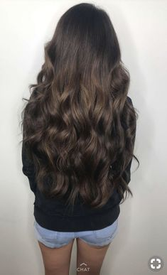 In the world of hair, there are many hairstyles that can be worn by a wide variety of hair types. Those who have long, curly hair can really try out some interesting styles with their beautiful loc… Long Brunette Hair, Very Long Hair, Long Curly Hair, Curly Hair Styles, Beautiful Long Hair, Gorgeous Hair, Natural Dark Hair, Chestnut Hair, Stylish Hair