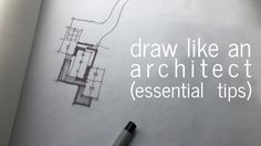 Drawing Sketches Architecture Design Reference Ideas For 2019 Architect Career, Architect Logo, Architect Drawing, Architect House, Landscape Architecture, Architecture Design, Lightroom, Details Magazine, Perspective Drawing