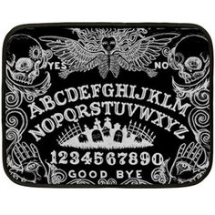 61aa09d27fbe1 Ouija Board and Day of the Dead Lap Blankets (multiple listing) Black Bath  Mat