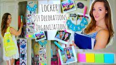 Back to School: Locker Organization + DIY Decorations ♡ Tumblr Inspired .....on YouTube