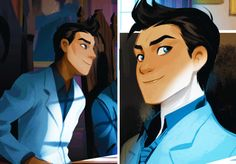 I absolutely love this rendition of Damian Wayne in Gotham Academy!